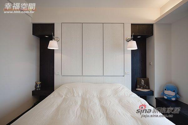简约 三居 卧室图片来自幸福空间在99平三房两厅时尚简约风格44的分享