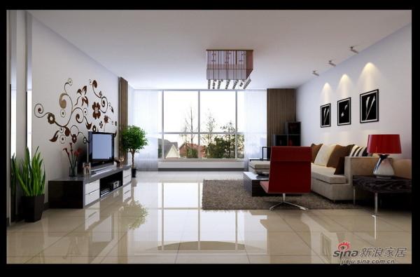 手绘的客厅