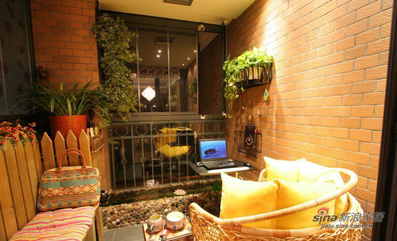 现代 三居 阳台图片来自装修微日记在【高清】114平古朴典雅现代3居室64的分享