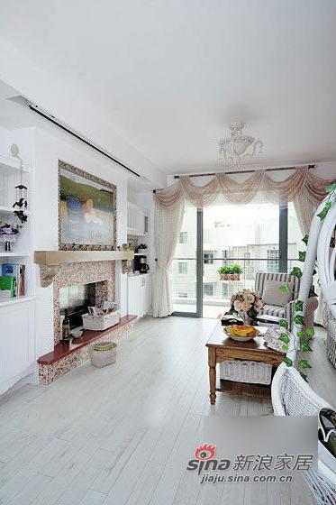 简约 二居 客厅图片来自用户2739378857在8万营造90平2居韩式田园美宅66的分享