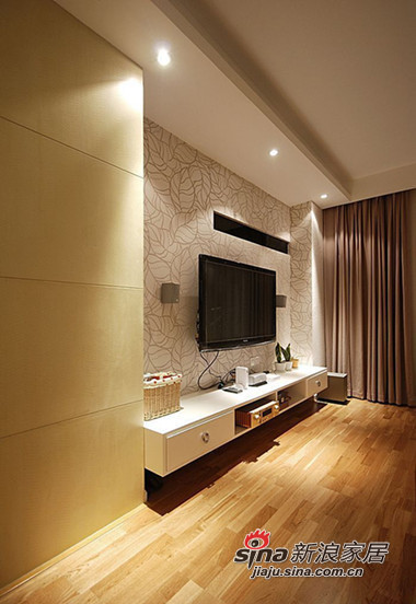 简约 三居 客厅图片来自用户2738093703在时尚白领5.8万装110平现代温馨两室44的分享
