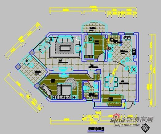 简约 三居 客厅图片来自用户2739378857在130平米崎岖怪异户型如何设计才叫完美?89的分享