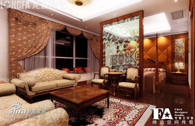 欧式 跃层 卧室图片来自用户2746869241在中海华庭--古典欧式74的分享
