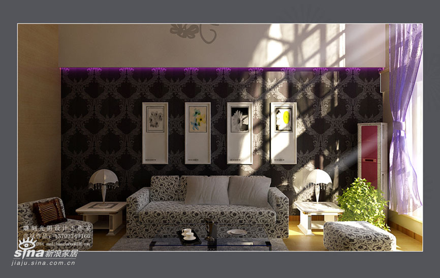 简约 复式 客厅图片来自用户2737759857在斜顶复式59的分享