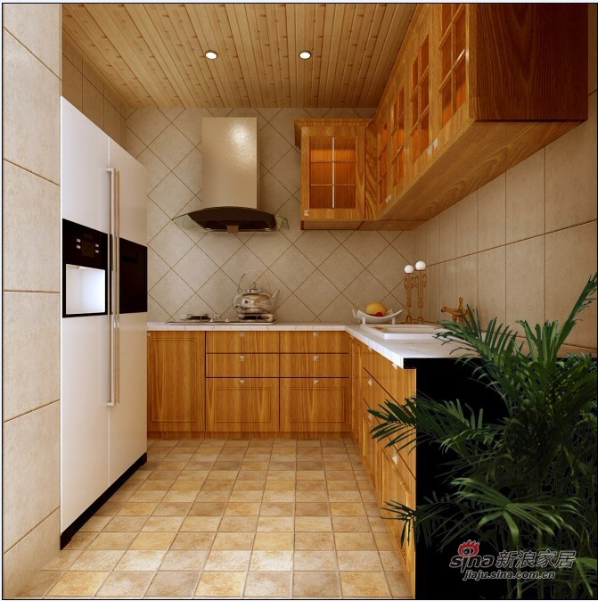 田园 二居 厨房图片来自用户2737946093在四合上院小区简欧田园2居室90的分享