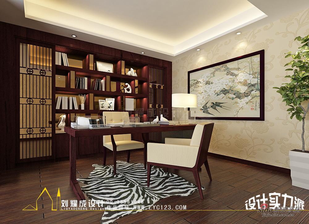 中式 复式 书房图片来自用户1907658205在【高清】新中式的贵族复兴300平复式楼30的分享