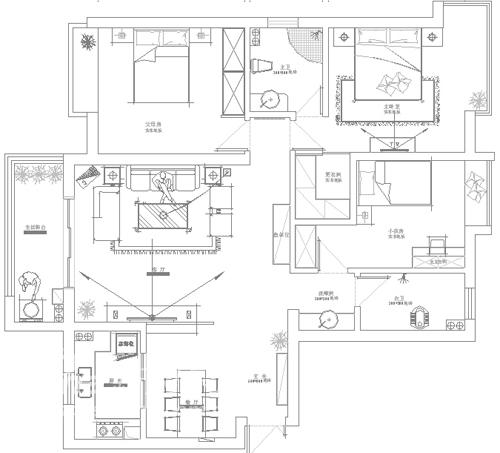 简约 三居 户型图图片来自用户2738829145在绿色家园媒体村42的分享