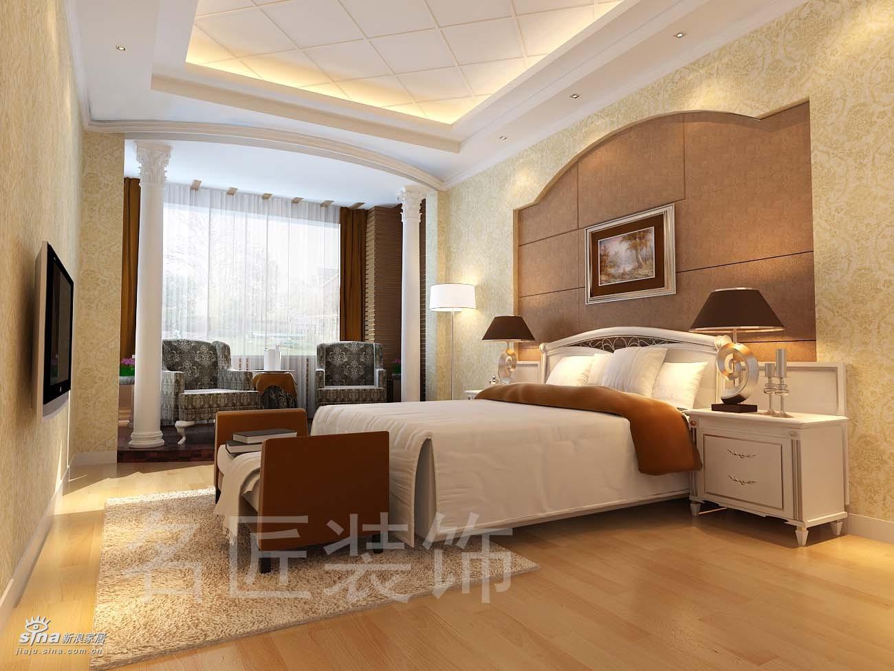 欧式 别墅 卧室图片来自用户2746953981在陆总家居40的分享