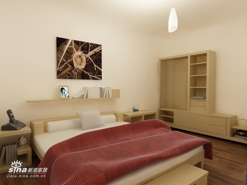 简约 二居 卧室图片来自用户2738820801在实创装饰亦庄北岸的户型设计91的分享