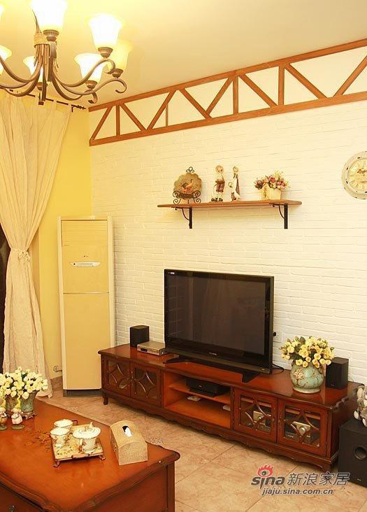田园 三居 客厅图片来自用户2557006183在88平花18万打造英式乡村屋31的分享