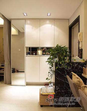 收纳柜,大理石的玄关台面