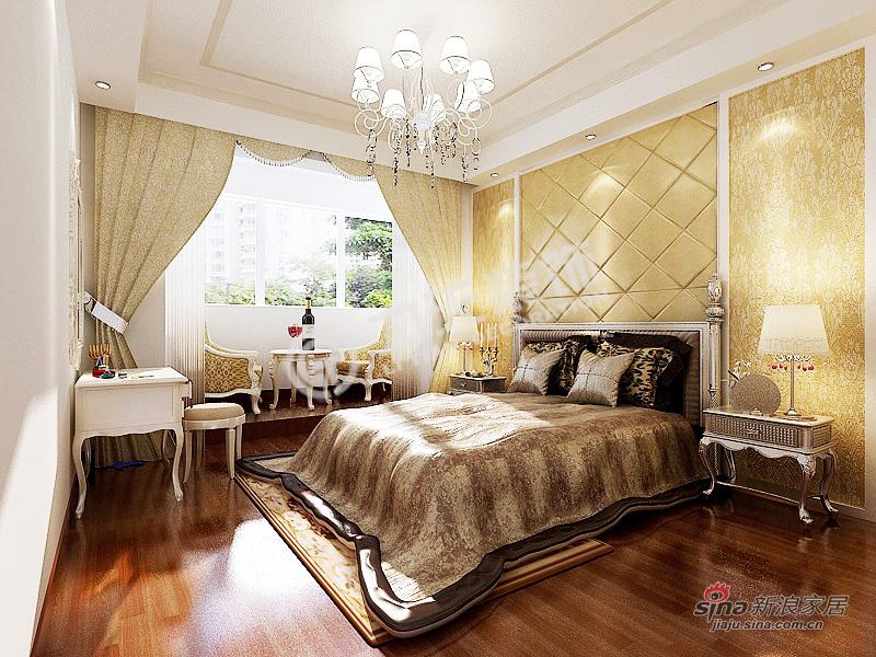欧式 二居 卧室图片来自阳光力天装饰在首创溪堤郡-2室2厅1卫1厨-简欧风格59的分享