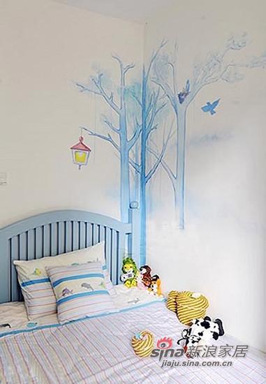 儿童房的墙面是设计师最擅长的手绘画