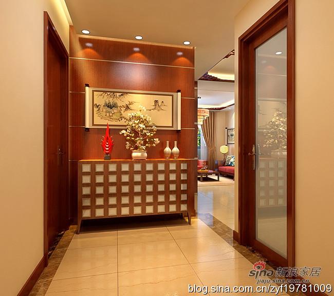 中式 三居 玄关图片来自用户1907658205在115平3居室新中式舒适爱家35的分享