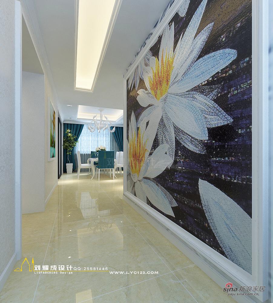 欧式 复式 玄关图片来自用户2557013183在【高清】四口之家梦之蓝250平复式楼设计85的分享
