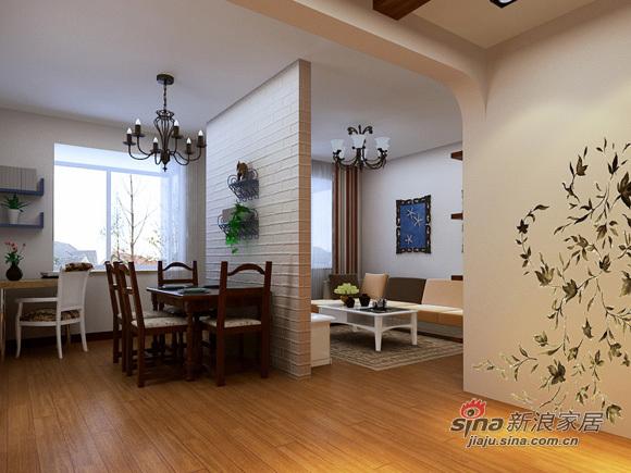 地中海 二居 餐厅图片来自用户2756243717在5万打造80平米实用简约2居室61的分享
