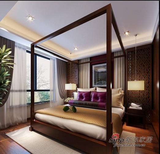 中式 三居 卧室图片来自用户1907659705在国企高干仅花12万打造简约中式混搭175㎡三居31的分享