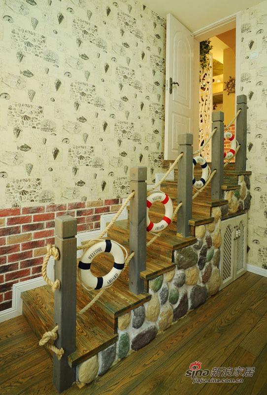 地中海 复式 楼梯图片来自佰辰生活装饰在99平唯美地中海清凉浪漫家44的分享