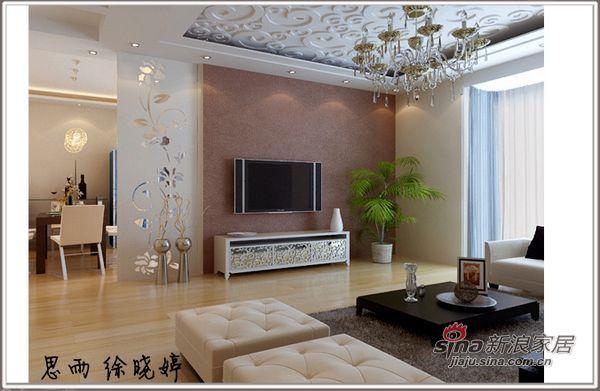 欧式 二居 客厅图片来自用户2772856065在2居现代欧式风格超值打造63的分享