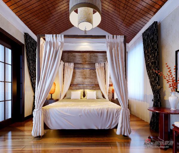 中式 四居 卧室图片来自用户1907662981在长滩壹号184新中式四居51的分享