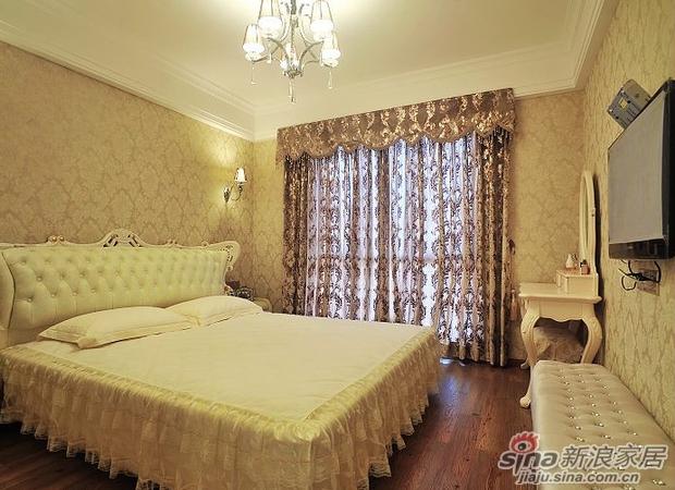 欧式 三居 卧室图片来自用户2746948411在200平简欧风豪宅 精美实景图片雍容华贵40的分享