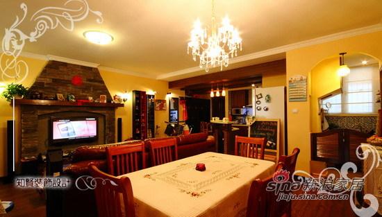 混搭 二居 餐厅图片来自用户1907691673在72坪美式田园混搭风小居室64的分享