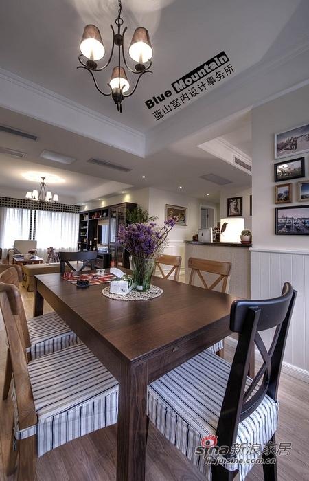 美式 二居 餐厅图片来自用户1907686233在10万混搭小资英伦风情2居64的分享