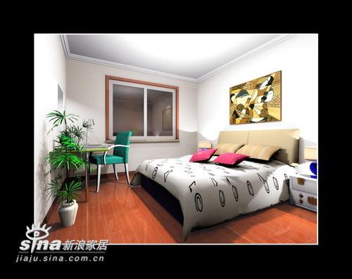 简约 二居 卧室图片来自用户2737735823在简约大方两居室23的分享