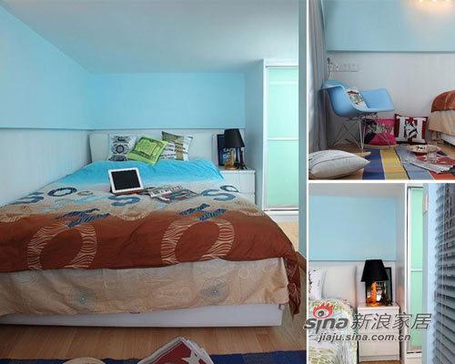 地中海 一居 卧室图片来自用户2756243717在41平撞色超小户搭建80平清爽家效果31的分享