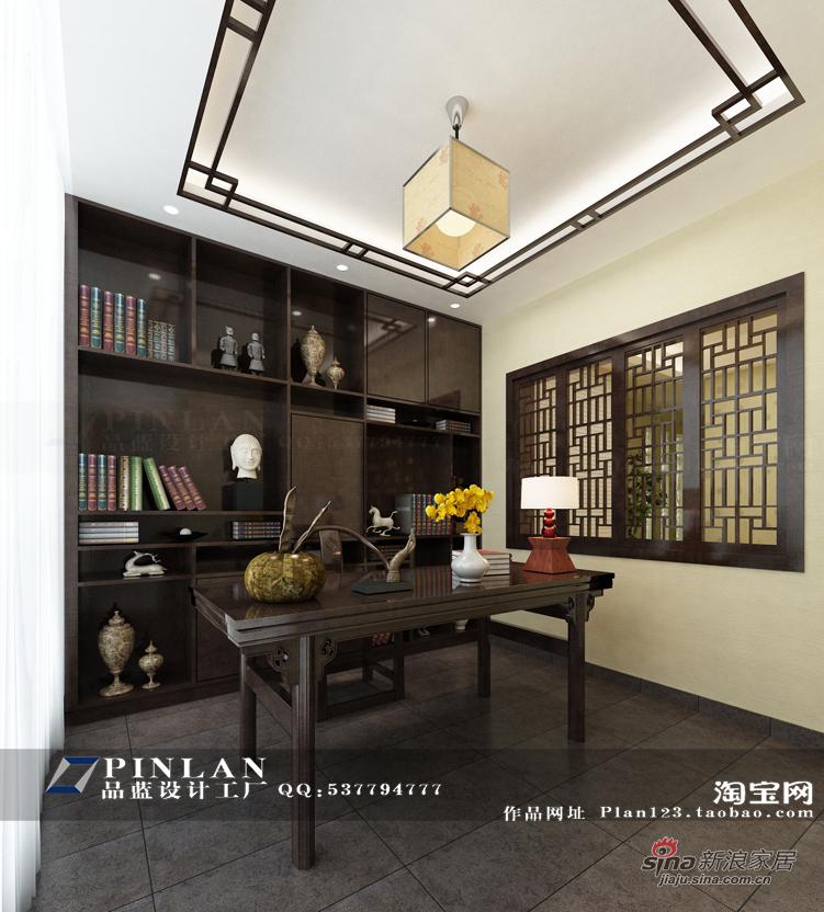 简约 四居 书房图片来自用户2739378857在【高清】16万装149平锦绣华城现代简约99的分享