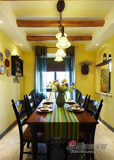 田园 二居 餐厅图片来自佰辰生活装饰在90平复古风潮田园风格2居36的分享