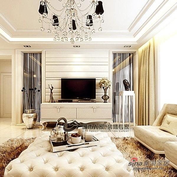 欧式 四居 客厅图片来自城市人家犀犀在白色欧式风情14的分享