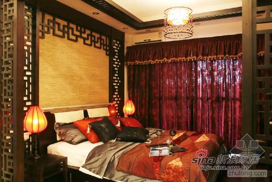 中式 别墅 卧室图片来自用户1907658205在135㎡肇庆鸿景观园中式样板房30的分享