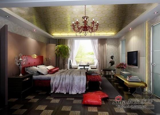 欧式 别墅 卧室图片来自用户2757317061在低调奢华新古典别墅93的分享