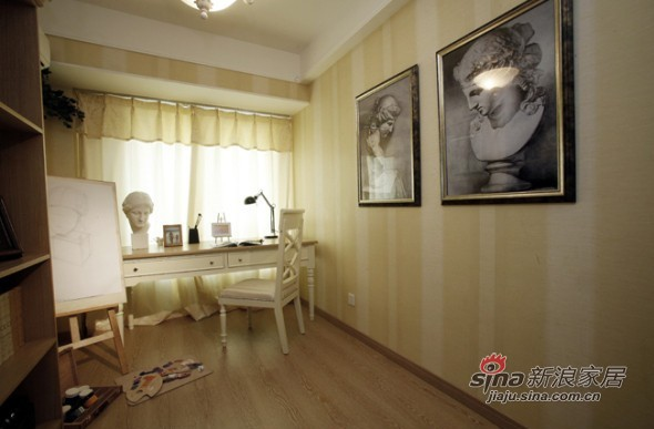 欧式 三居 书房图片来自用户2557013183在8万美装140平欧式大气3居23的分享
