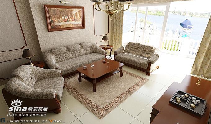 欧式 复式 客厅图片来自用户2746889121在现代感的欧式37的分享