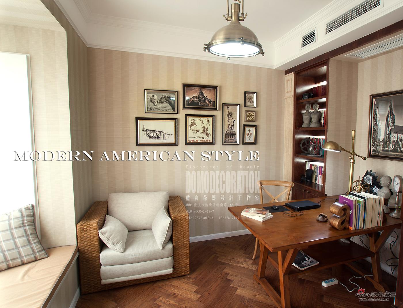 其他 三居 书房图片来自朵墨设计在【高清】130平雅致美居休闲下午茶73的分享