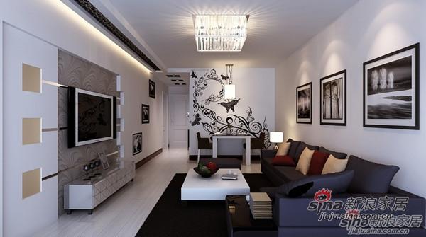 简约 二居 客厅图片来自用户2737950087在5.3万大包模式装修90平米婚房设计94的分享