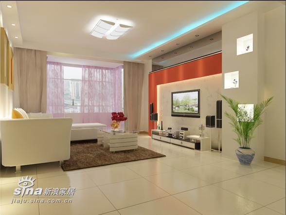 简约 二居 客厅图片来自用户2738813661在实创装饰沸城设计案例11的分享
