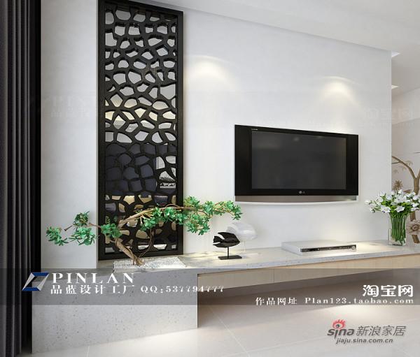 新中式电视背景墙·