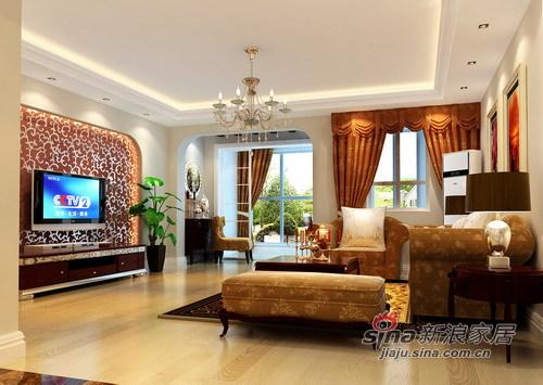 欧式 三居 客厅图片来自用户2746869241在9.5w满足海归小两口的欧式风情30的分享