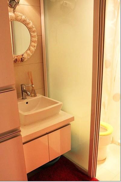 美式 二居 卫生间图片来自用户1907685403在15万打造110平现代美式风舒适家25的分享