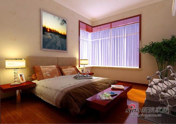简约 三居 卧室图片来自用户2737782783在现代简约派装点107平中铁绿港幸福之家38的分享