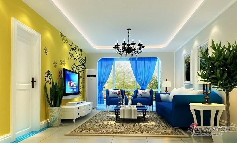 地中海 三居 客厅图片来自用户2756243717在120平老房变高雅3居仅8万71的分享