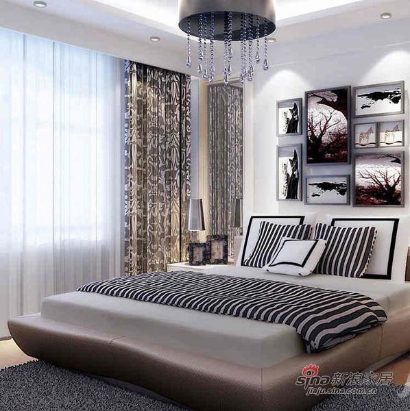 北欧 其他 卧室图片来自用户1903515612在150平现代时尚黑白家居设计44的分享