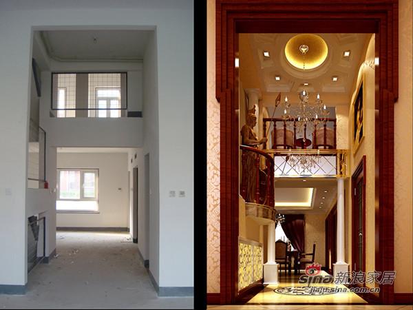 欧式 别墅 客厅图片来自用户2757317061在43万联排别墅经典之最74的分享