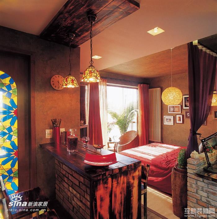 其他 一居 餐厅图片来自用户2558746857在复古而绚丽的小户型闺房90的分享