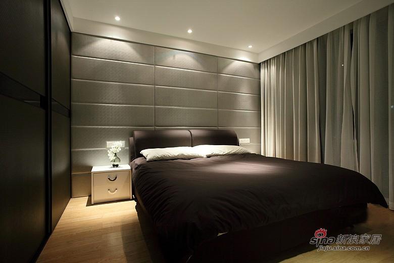 现代 二居 卧室图片来自佰辰生活装饰在【高清】13万装87平现代低奢素雅两居53的分享