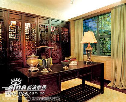 中式 别墅 书房图片来自wulijuan_16在浙江水木清华别墅示范单位18的分享