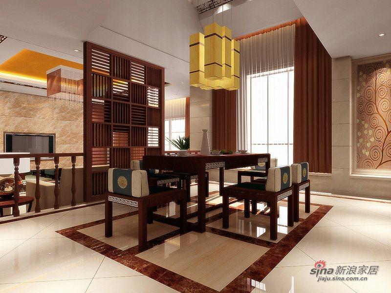 中式 别墅 餐厅图片来自wulijuan_16在300平米现代中式50的分享